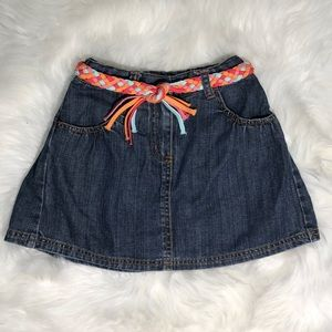 Gymboree Denim Skirt | Jean Skort | Colorful Belt
